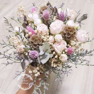 Bridal bouquet -Pastel Style (Wedding / ROM/ /Engagement Bridesmaid / Proposal/ Anniversary)