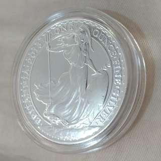 999英國2013年女神銀幣
