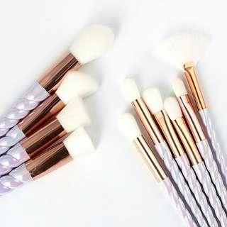 Unicorn white brush set 10 pcs