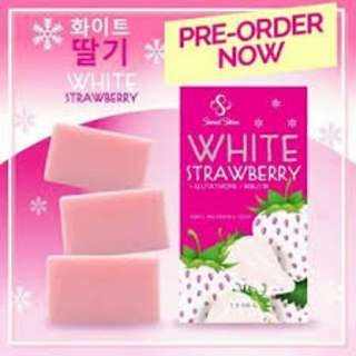 White strawberry soap 3 in 1 pack