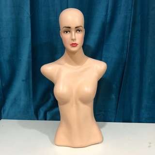 Armless Female Mannequin (Head with makeup)