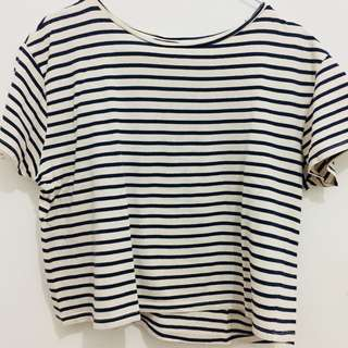 MANGO STRIPED CROP TEE