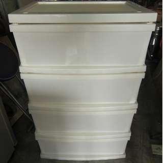 尚典中古家具(二手家具)~中古收納櫃(二手置物櫃)~ 白色塑膠四抽櫃