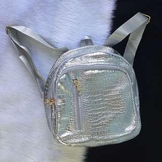 Croc Skin Backpack