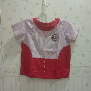 👕Red Stripe Blouse | Atasan Merah Garis