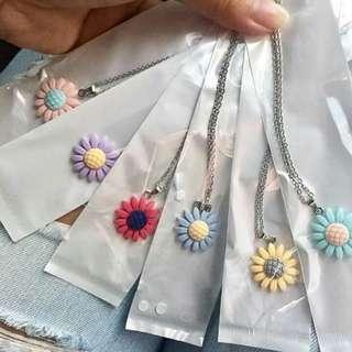 Pastel sunflower necklace
