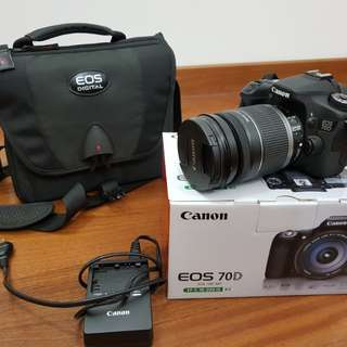 Canon 70d with body kit (18mm-200mm lens)