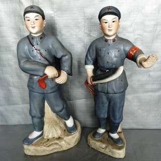 Cultural Revolution Red Army Sculpture,  文革红军雕塑瓷