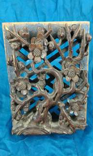 清代 - 獨件兩層工木彫