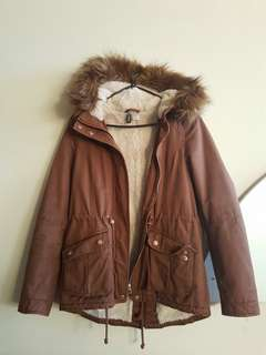 H&M Pile lined fall parka
