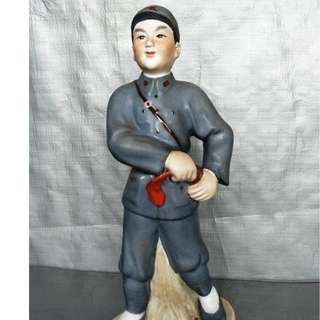 Cultural Revolution Sculpture Porcelain Red Army , 文革雕塑瓷红军