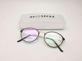 Frame DIOR 159 Classic Oval Fashion Include Lensa Minus Antiradiasi