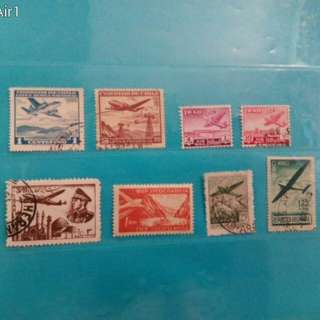 Old Aircraft, Air Mail stamps, 1940/60