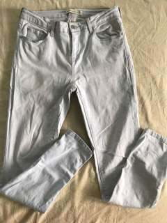 Mango High Waist Lt Denim Pants