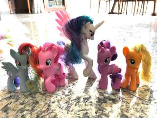 My Little Pony - assorted 5 ponies with shimmery hair