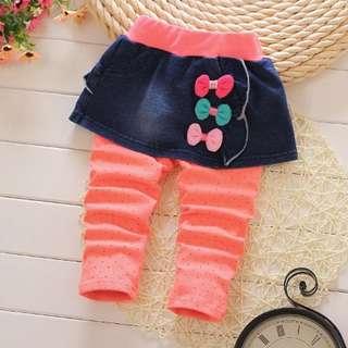 Three Bow Skirt Legging