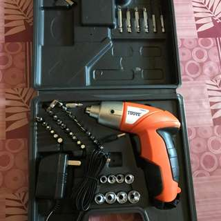 Cordless Electric Drill Screw Driver w/45pcs screw