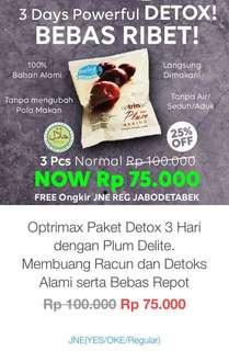 Buah Plum Kering Original Optrimax Delite 3 pcs.