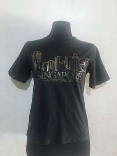 SINGAPORE Black Cotton Shirt