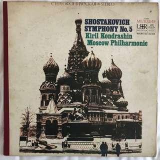 Shostakovich Symphony 5 Kondrashin Melodiya Angel SR 40004