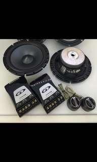 "Alpine Type-S SPS-610C 480 Watt 6.5"" 2-Way Type-S Series Component Car Audio Speaker System"