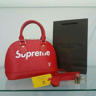 Louis Vuitton Alma Supreme Red