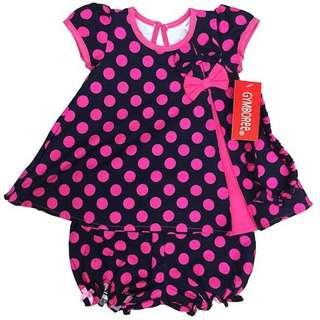 Dress Black Pink Polkadot