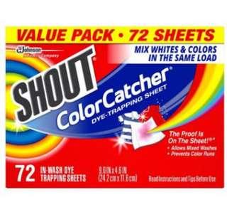 美國🇺🇸Shout Color Catcher 防染色洗衣紙 (72張/盒)