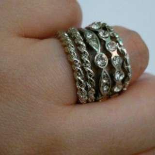 5 rings set