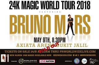 Bruno Mars Live in Malaysia (May 9, 2018)