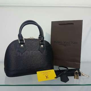 Louis Vuitton Alma Supreme Black