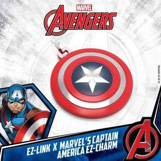 Captain America Shield ezlink charm