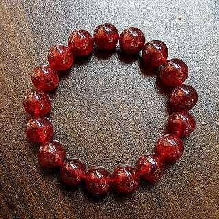 12mm SUPER RED STRAWBERRY BRACELET 超级红草莓晶手链