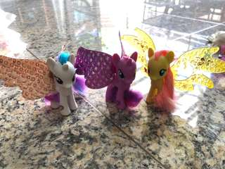 My Little Pony- set of 3 with detachable wings