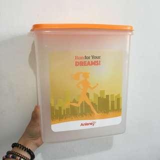 Anlene Pink & Orange Plastic Container