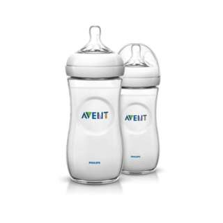 Philips Avent Natural Baby Bottle 330ml Twin Pack