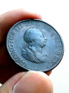 1799 Great British-Georgius III Half penny.