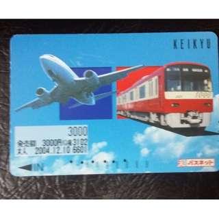 (HC12) 日本 火車 地鐵 車票 MTR TRAIN TICKET, $5