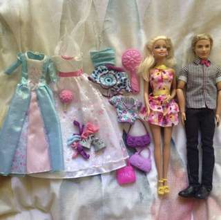 Barbie & Ken, clothes included