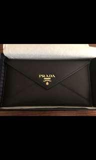 Prada Saffiano Black Ladies Wallet - authentic!