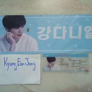 Wanna One Kang Daniel boarding pass + banner