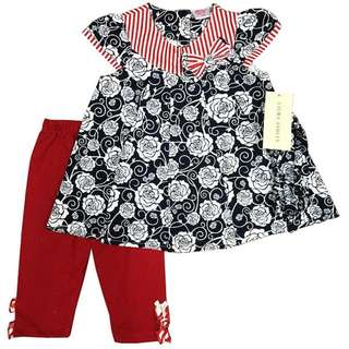 Dress Red & Black Florist