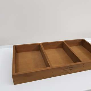 Rental - Rustic wood tray with compartments