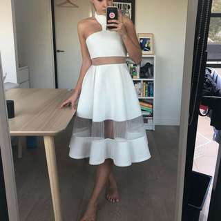 White Halter Alpha Be Dress