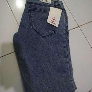 Celana Jeans Wanita Chan*l