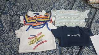 Take all 4 -- P340 only. Preloved imported onesies for 0 to 3 mos.