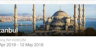 Turkey fly ticket- Singapore airline-up to August 2018