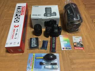 CANON EOS 80D plus lens 18-55mm