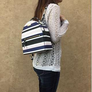 KATE SPADE WKRU4512 LAUREL WAY CRUISE STRIPE PRINTED SAMMI BACKPACK