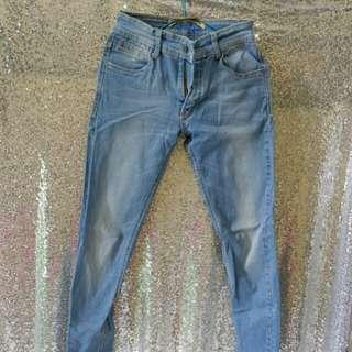 Jeans biru preloved murah bahan bagus